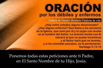 Oración por sanidad, salud, liberación de enfermedad