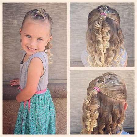 A Half-Up Barbie Fishtail Braid