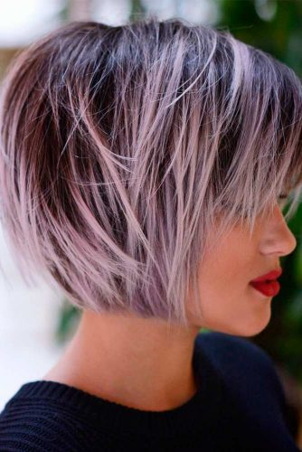 Layered Bob for Fine Hairwidth=