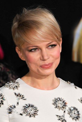 Michelle Williams Pixie Haircut With Deep Side Partwidth=