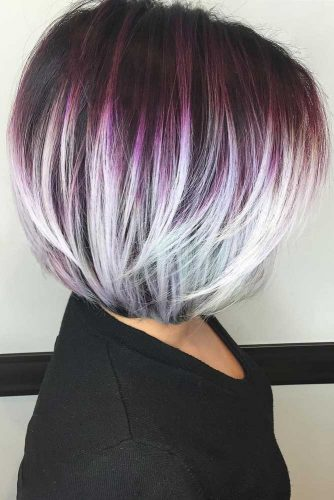 Bob Haircut with Bold Middle Sectionwidth=