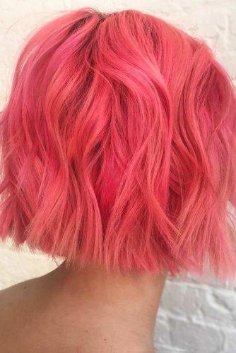 Peach Pink Blunt Bobwidth=